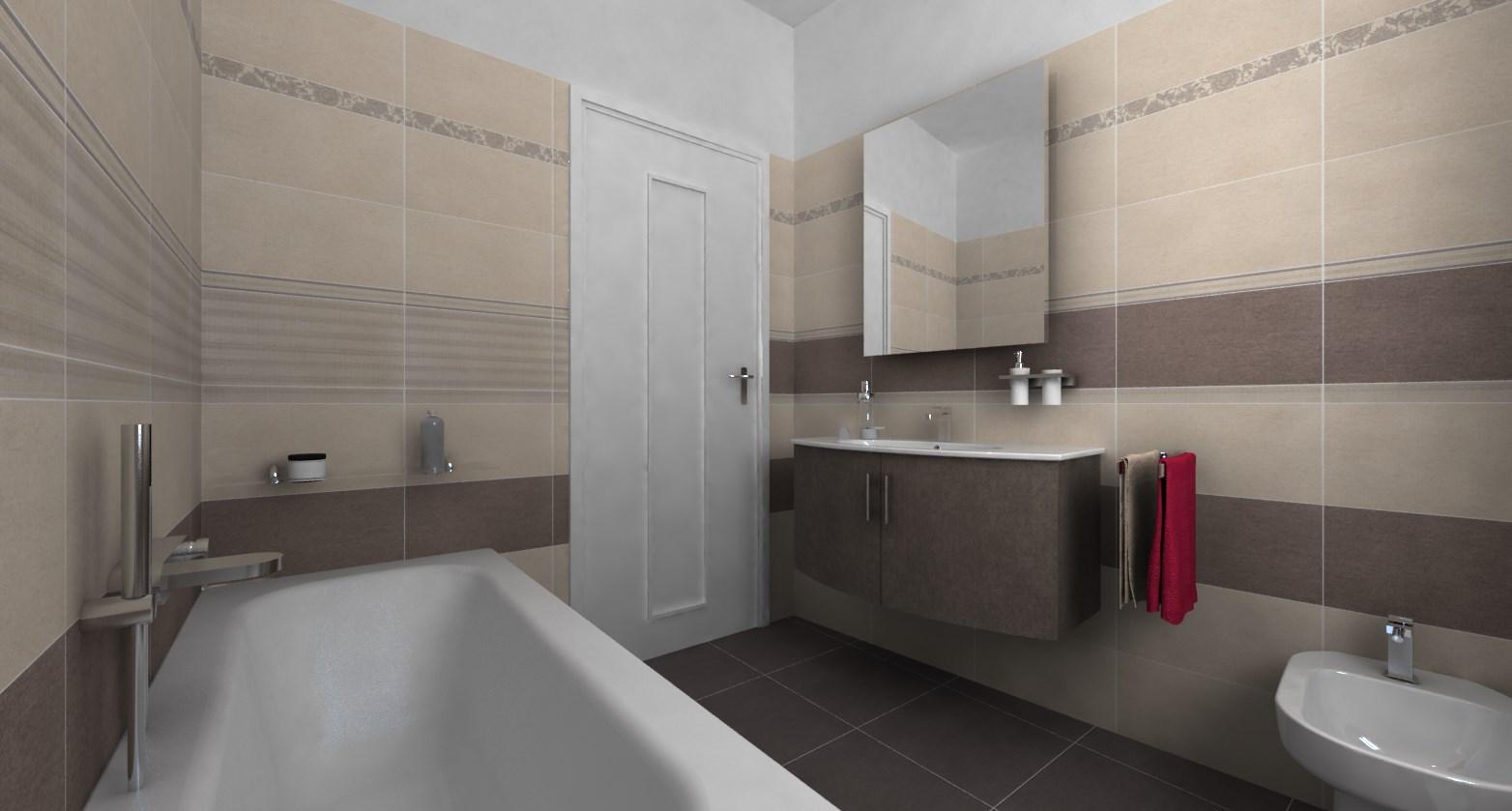 progettazione 3d - la nuova ceramica - Simulazione Arredo Bagno